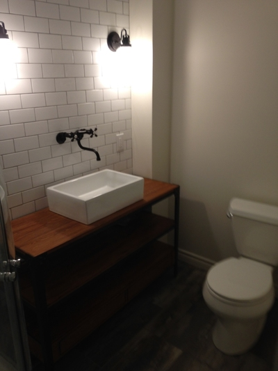 finished washroom renovation